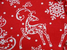 Nordic Christmas Reindeer in Red and White yo yo by SursyShop, $8.00