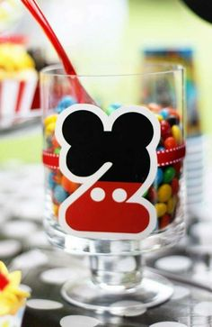 Mickey Mouse birthday party! See more party ideas at CatchMyParty.com!