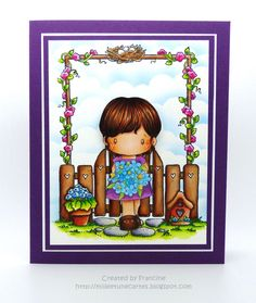 Card by Francine - milleetunecartes.blogspot.com #cardmaking #craft #crafting #papercrafts #crafts #coloring #card #carte #handmadecard #diy #karte #ccdesigns #darcies #garden #copic #tombows