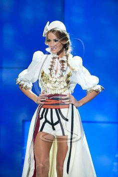 Miss Universe 2011-- Miss Kosovo. I like that belty part.