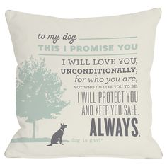 Precious pillow for all dog lovers.