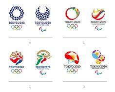 Logos finalistas para los Juegos Olímpicos de Tokio 2020.