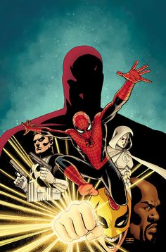 #Spiderman #Fan #Art. (Shadowland #1 (Wraparound Variant Cover) By: John Cassidy. ÅWESOMENESS!!!™ ÅÅÅ+