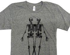 Skeleton T-Shirt - Anatomical Skeletons American Apparel American Apparel Shirt - (Available in sizes S, M, L, XL)