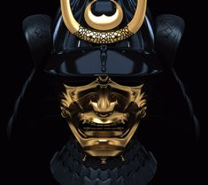 samurai, mask--not really venetian, or for a carnival, but it's a mask, so hey.