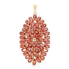 Pendentif serti de 45 Rubis rouge du soir pour un total de 13,64 ct. montés sur de l'or jaune - en vente le 19.11.16 à 18h sur Juwelo Télé-Achat