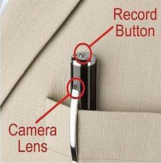 This Spy Cam Pen ~ This gadget will make you feel like 007 while you are wearing it! It records sound, video and even take photos. Connecting it by USB, you can easily upload the footage to your PC. Office Gadgets, Spy Gadgets, Gadgets And Gizmos, Electronics Gadgets, Survival Gadgets, High Tech Gadgets, Latest Gadgets, Travel Gadgets, New Technology Gadgets