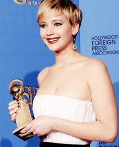 #JenniferLawrence and her Best Supporting Actress #GoldenGlobe