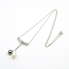 Elegant Women's Best Valentines Gifts Sterling Silver Cross Chain Natural Pearl Drop Pendant Necklaces from Pandahall.com