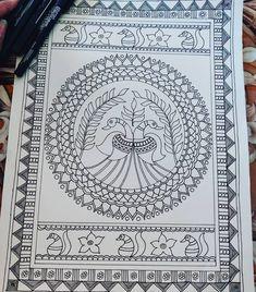 Mandala Art Lesson, Mandala Artwork, Mandala Drawing, Madhubani Paintings Peacock, Madhubani Art, Gond Painting, Kerala Mural Painting, Doddle Art, African Art Paintings