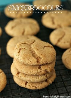 Soft & Thick Snickerdoodles   Persnickety Plates