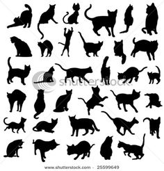 cat silhouette for tattoo ideas