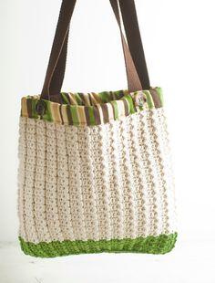 Reuseable Shopping Bag, Crochet Market Bag,  retro carryall via Etsy