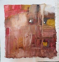 """Esencia.  La brisa del Alma   Proyecto """"En Esencia"""" Pigmento, resina / lienzo 25×25 Proceso aditivo en un único sentido; negro, rojo, ocre, blanco."""