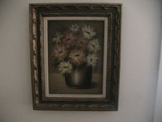 Oil Painting of Daisy Flowers in a Pottery by AntiqueDiscoveries, $199.99