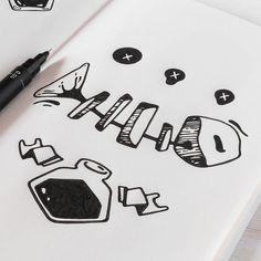 'Addicted to Ink' Study. #illustration #sketch #drawing #penandink #blackwork #moleskine
