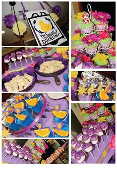 A Bushel and a Peck of FUN: Rapunzel Party Details @Tracy Stewart Stewart Stewart Taylor this made me think of Ryanna