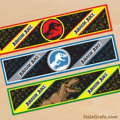 Click here to download FREE Printable Jurassic Park Water Bottle Labels!