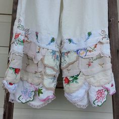 Vintage Style Prairie Pants Size Large by MegbyDesign on Etsy