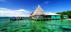 a restaurant in middle of the ocean, and next to a mangrove. Punta Caracol, Bocas del Toro