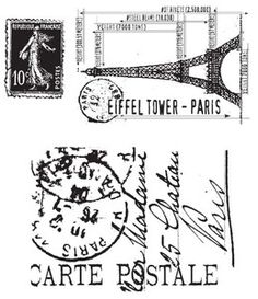 *Tim Holtz Cling Rubber Stamps I SEE PARIS Stampers Anonymous