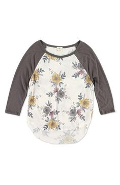 O'Neill 'Spring Day' Baseball Tee (Big Girls)
