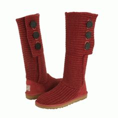 Women Classic Cardy Tall Ugg red Boots
