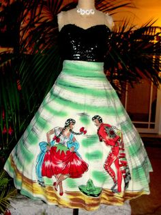 Mexican Hand painted skirt