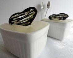 White chocolate passion pots