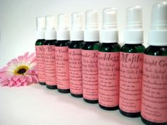 Natural Perfume Rose Bud Refreshing Hair Body Mist by bellaboogie, $4.50