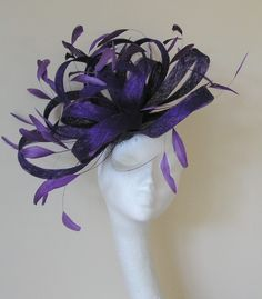 Purple Cocktail Fascinator Hat. etsy.com