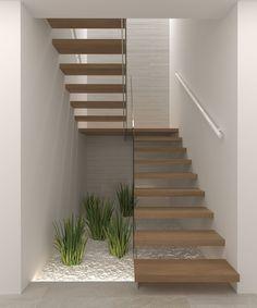 Home Stairs Design, My Home Design, Home Design Plans, Modern House Design, Home Design Software, Stair Decor, House Stairs, Modern Staircase, Floor Design