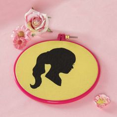 Mother's day: silhouette on fabric