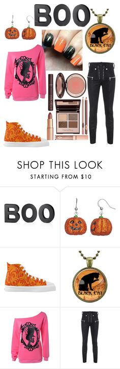 """""""Halloween is right around the corner huehuehue"""" by vitmaster ❤ liked on Polyvore featuring Crate and Barrel, Unravel and Charlotte Tilbury"""