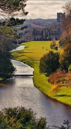 Fountains Abbey, Yorkshire, England the best place to have a picnic                                                                                                                                                                                 More