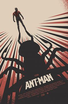 """Officially licensed Alternative Movie Poster for the 2015 Poster Posse's tribute to the Marvel film """"Ant-Man"""".During Ant-Man's opening weekend, this poster will be given away FREE to anyone purchasing tickets to see the film to at selected AMC Theatr… Poster Marvel, Marvel Movie Posters, Best Movie Posters, Cinema Posters, Movie Poster Art, Films Marvel, Marvel Dc Comics, Cool Stuff, Ant Man Poster"""