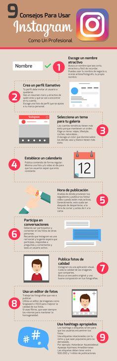 9 consejos para usar Instagram como un profesional #infografia