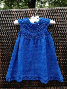 Mischa Baby Dress by Taiga Hilliard hand knit knitting