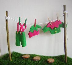 Fairy Elf Washing Line Elf Clothes Fairy Garden Accessories Stepping Stones