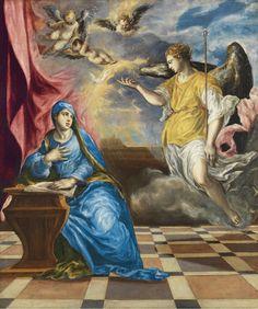 "El Greco, ""Annunciation"", 1576, Museo Thyssen-Bornemisza"