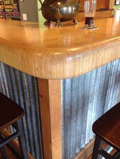 Bar at the Pourhouse, Port Townsend. Design and build by Brendon Piskula (Attractive Lighting) and Brahdy & Brahdy Custom.