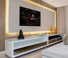GARCEZ & ASSOCIADOS para Anuário Ambientes 2014. Para destacar peças de design clássico e obras de arte, um projeto sofisticado e atemporal com estética contemporânea