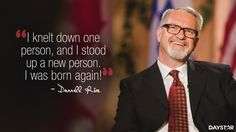 """""""I knelt down one person, and I stood up a new person. I was born again!"""" -Darrell Rice [Click Image to Watch Full Episode at Daystar.com]"""