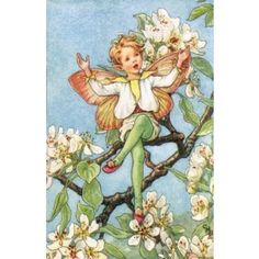 Jasmine Fairy Vintage Wall Art