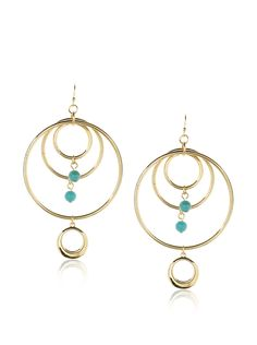 Jules Smith Tangier Hoops Layered hoops adorned with brightly colored beads create a chic boho style Women #Jewelry