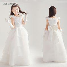 Chinese Girl White Dress for Wedding