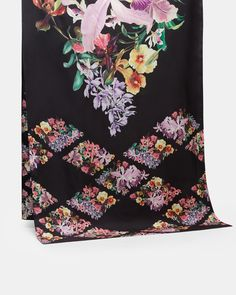 Ted Baker's online outlet houses a plethora of fashionable favourites from past seasons, so discover a treasure trove of discounted clothing and accessories including women's dresses, tops and jackets. Designer Scarves, Silk Scarves, Womens Scarves, Floral Tie, Accessories, Lost, Gardens, Fashion, Floral Lace