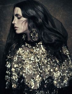 Marine Vacht in DolceGabbana fall/winter 2012-13 photographed by Paolo Roversi for Vogue Italy,October 2012 :)