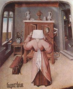 Художник - Иероним Босх, картина «Гордыня. Семь смертных грехов и Четыре последние вещи. Фрагмент»: Северное Возрождение, Религиозная сцена