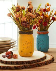 DIY Fall Decor Mason Jars.